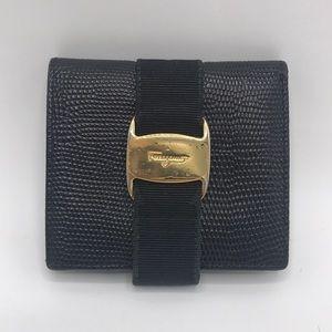 Authentic Salvatore Ferragamo Vara Leather Wallet